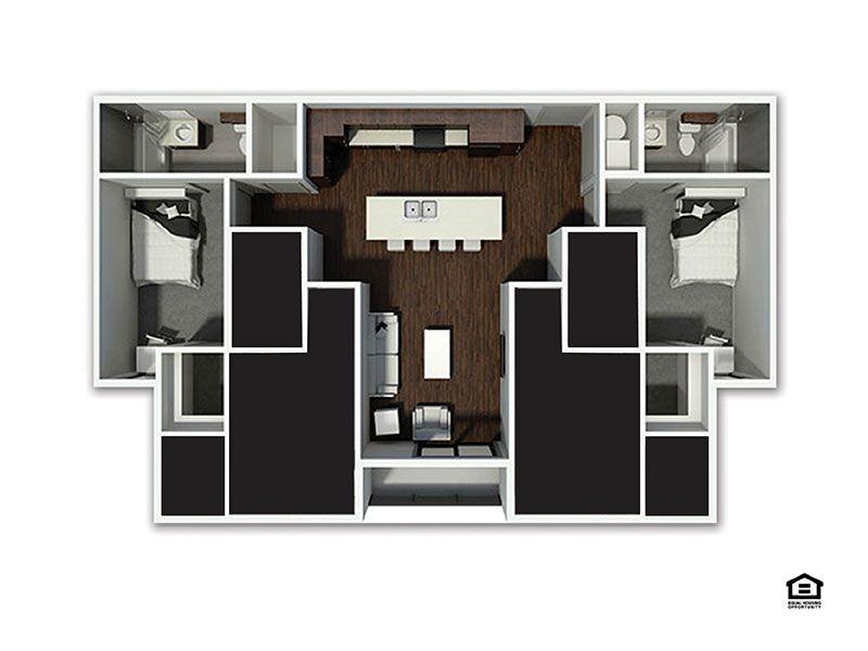B2 XL Floor plan layout